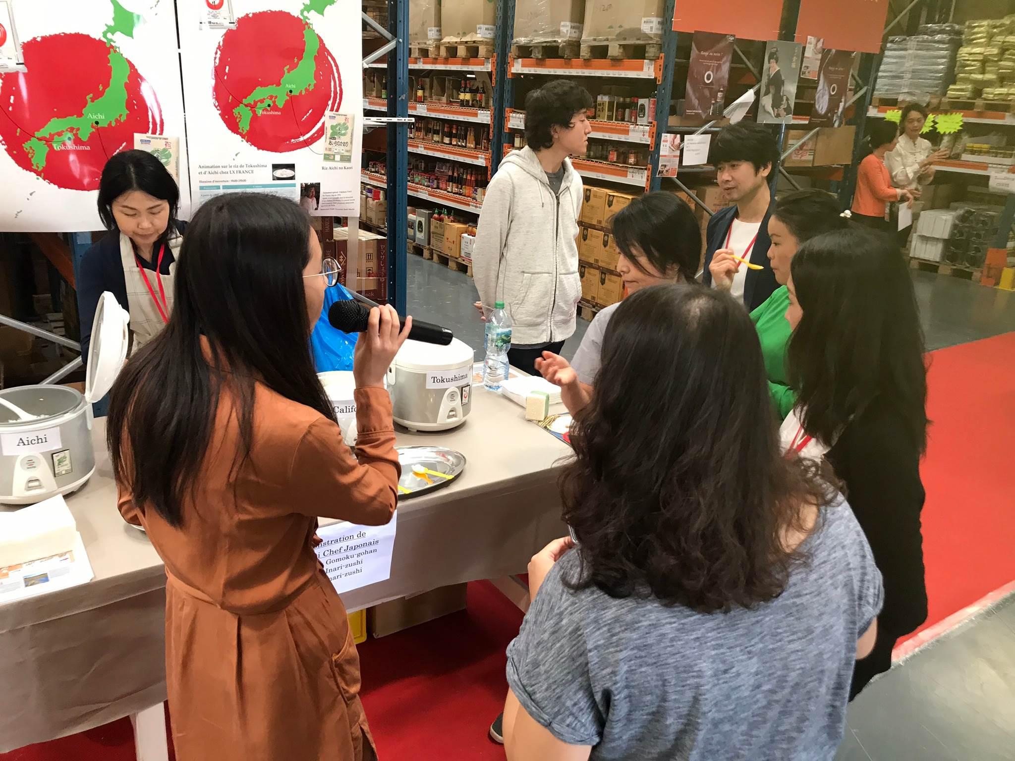 日本産米をフランス・パリへ輸出拡大事業
